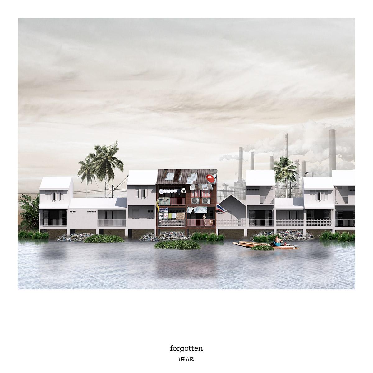 "verasustudio work, FIVE REMAINDERS OF VERNACULAR ARCHITECTURE, 2018,FORGOTTEN,""ละเลย"""