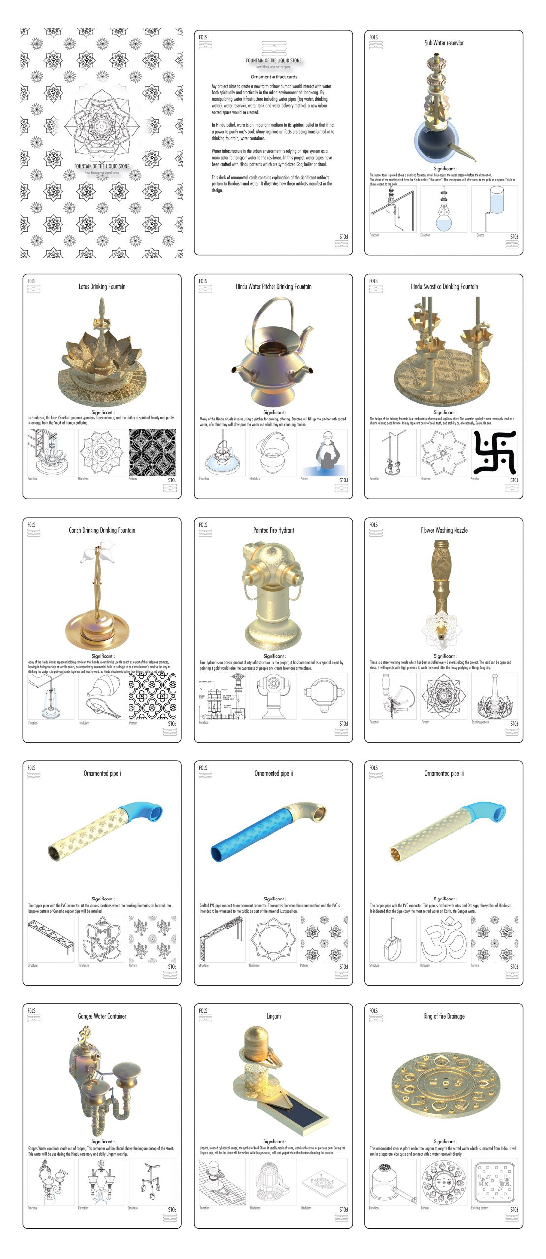 verasustudio_Fountain of the liquid stone_New Hindu Urban scared space_Pottinger Street, Hongkong_ornamental cards